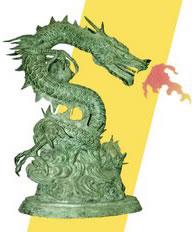 draak geel klein